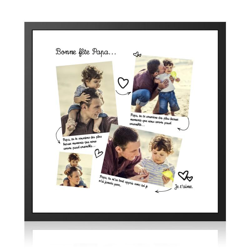 cadre photo 30x30 cm avec tirage photo sp cial f te des p res. Black Bedroom Furniture Sets. Home Design Ideas