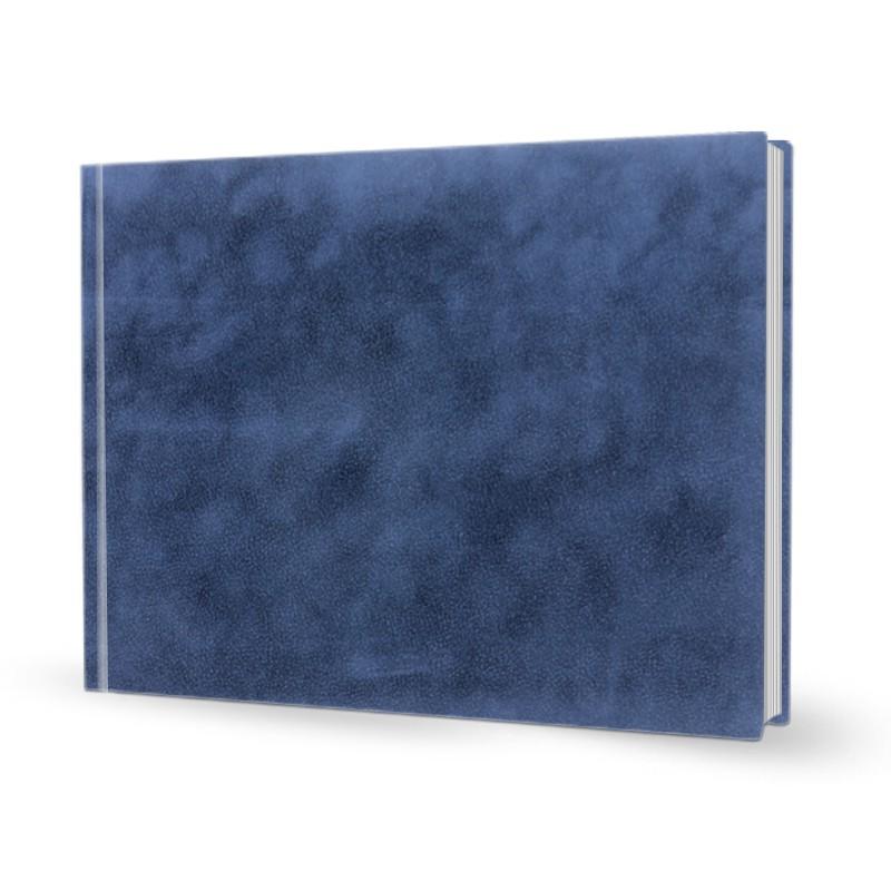 livre photo a4 paysage reli en cuir bleu atelier du livre. Black Bedroom Furniture Sets. Home Design Ideas