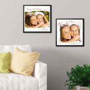 Cadre Photo 30x30 avec tirage - Fête des Mères