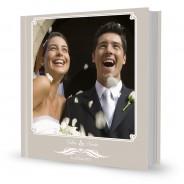 Livre luxe 30x30 cousu, couverture personnalisée Mariage