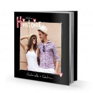 Livre rigide 21x21 cm avec jaquette Love