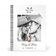 Save The Date Mariage Thème Coquelicot