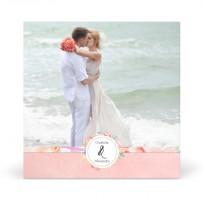 Carte de Remerciement de Mariage Thème Rose