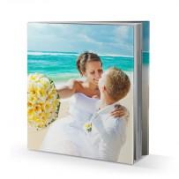 Livre photo rigide 30x30 cm avec jaquette
