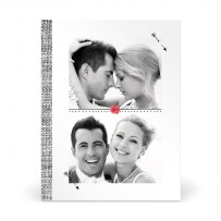 Carte de Remerciement de Mariage Thème Coquelicot