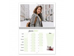 Calendrier Photo A4 double volet